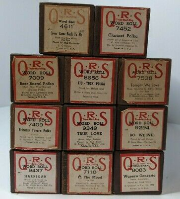 $ CDN43.80 • Buy Lot Of 11 Vintage QRS Player Piano Word Rolls - Excellent Condition