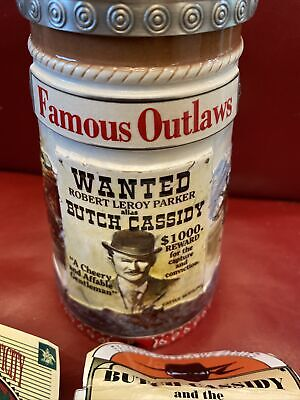 $ CDN38.72 • Buy Budweiser Famous Outlaws Butch Cassidy Lidded Stein W/COA
