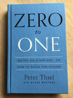 AU30 • Buy Zero To One By Peter Thiel With Blake Masters   Hardcover   FREE POST