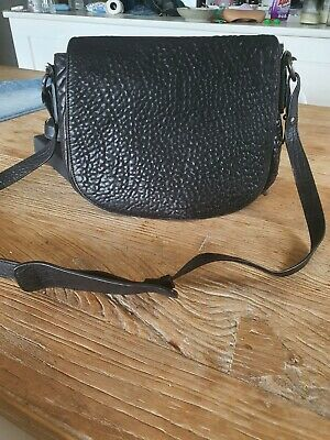 AU90 • Buy Alexander Wang Crossbody Bag Black Pebbled Leather With Silver Hardware