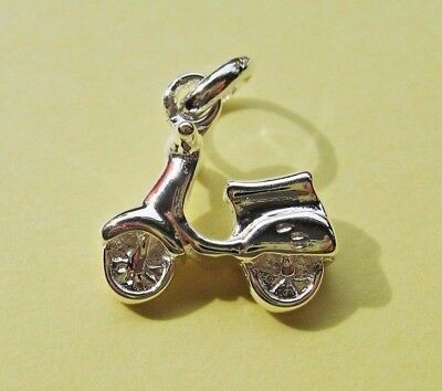 £3.99 • Buy London Silver 925 Moped Scooter Charm Attaches To The Links Of Your Bracelet
