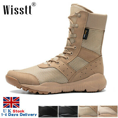 £27.75 • Buy Mens Army Military Combat Boots Size Walking Lightweight Waterproof Work Shoes