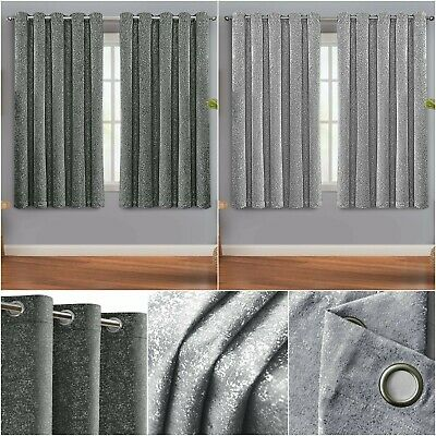 £21.59 • Buy Thermal Blackout Short Curtains Bedroom Kitchen Small Window Curtains Tie Backs