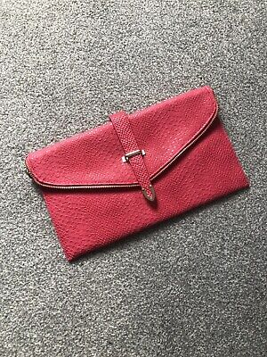 £8 • Buy Leko London Pink Clutch Bag With Chain Strap
