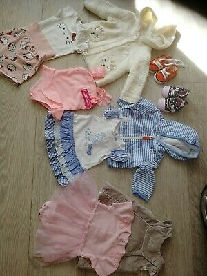 AU5.69 • Buy Baby Girls 0-3 Months Clothes And Shoes Bundle