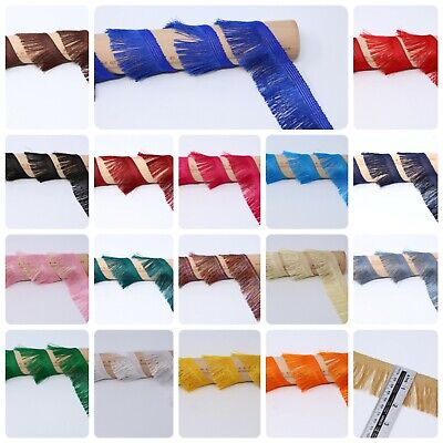 £3.99 • Buy 2Y 2 IN Silky Feather Fringe Trimming Braid Lace Sewing Ribbon Wedding Embellish