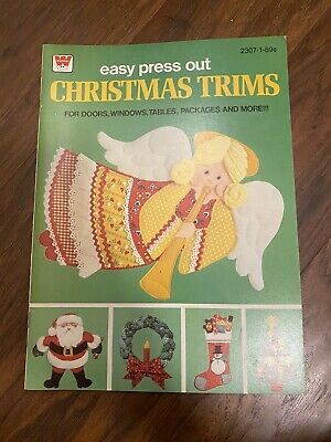 $ CDN18.04 • Buy Vintage Whitman Christmas Trims Punch Out Decorations Book COMPLETE 1980