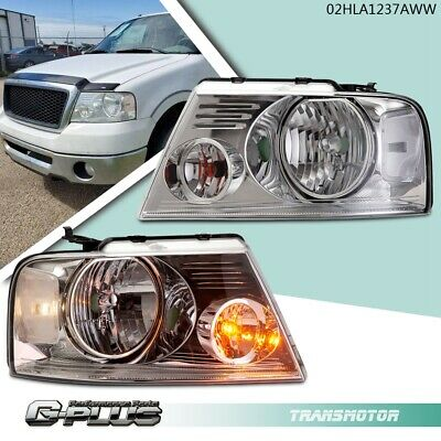 $64.05 • Buy For 04-08 Ford F150 Lincoln Mark LT Chrome Clear Replacement Headlights Lamps