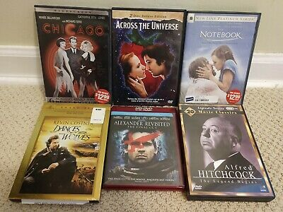 $ CDN1.24 • Buy Lot Of 25 Movies 11 DVDs HD Hitchcock Dances Wolves Notebook Chicago Beatles