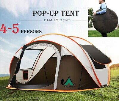 AU89.60 • Buy Instant Up Camping Tent 4-5 Person Pop Up Tents Family Hiking Dome Waterproof