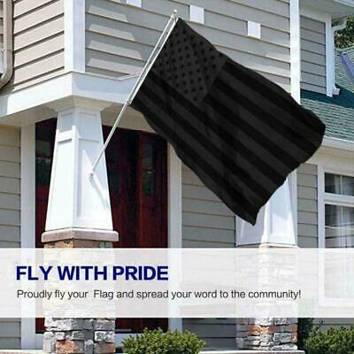 $ CDN13.91 • Buy All Black American Flags Embroidered Pure Black US Tacticals Flag Blackouts Y2Q8