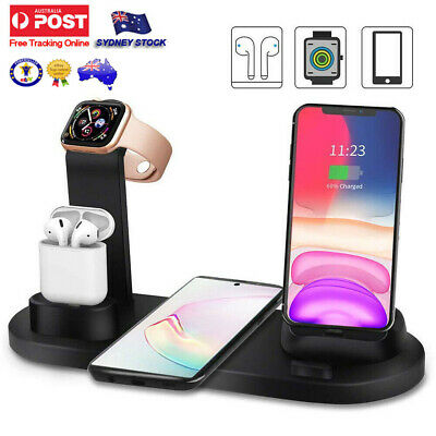 AU24.69 • Buy Qi Wireless Charger Fast Charging Dock Stand For Airpods Apple Watch IPhone Gift