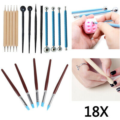 £7.19 • Buy 18pc Clay  Carving Chisel Tool Set Craft Clay Sculpting Art Modelling Ceramic