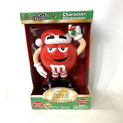 $16 • Buy M & M's Red Character Christmas Candy Dispenser NEW IN BOX Limited Edition 2015