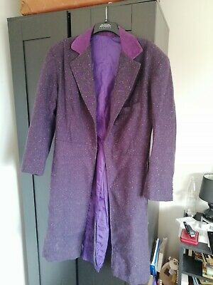 Hand Made Men's Purple Frock Coat Matt Smith Doctor Who Cosplay 11th Doctor • 30£