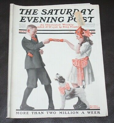 $ CDN32.49 • Buy The Saturday Evening Post | April 26, 1919 Norman Rockwell Party Games Complete