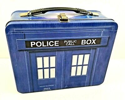 £7.16 • Buy Doctor Who Police Box Tardis Tin Tote Lunch Box 1996 Ltd Edition Collectible