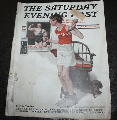 $ CDN15.61 • Buy The Saturday Evening Post | April 29, 1922 Champ Norman Rockwell -- Complete