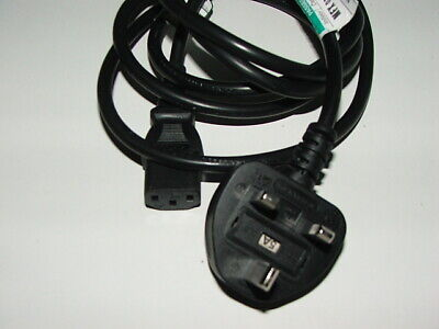 £0.99 • Buy 1 Long IEC Kettle Lead Power Cable 3 Pin UK Plug PC Monitor C13 Cord Black/Grey