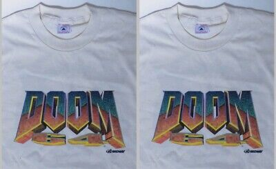 £134.42 • Buy Lot Of 2 Doom 64 Midway Nintendo 1990's T-shirt To Hell With You Promotional Nos