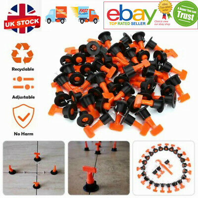 £18.39 • Buy 200pcs Tile Leveling System Kit Reusable Tile Spacer Wall Floor Clips Tool