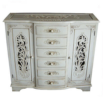 £375 • Buy French Style Hand Carved Sideboard - Antique Ivory - Shabby Chic Furniture