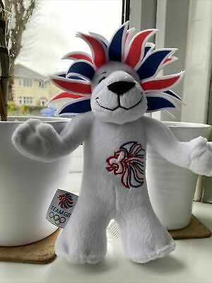London 2012 Lion Olympic Games Team GB Mascot Soft Toy Plush Collectible • 0.99£