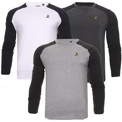 £7.99 • Buy Mens Long Sleeve T-Shirt Base Layer Casual Tee Top Sports Gym Tees Brave Soul