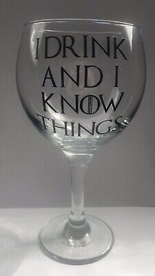 £7 • Buy Game Of Thrones Inspired I Drink And I Know Things Gin Balloon Glass