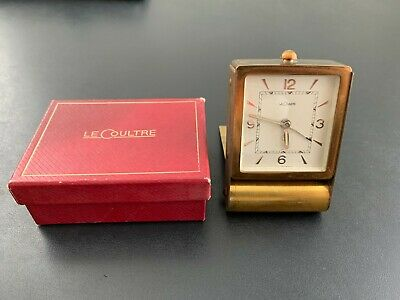 AU30.30 • Buy Vintage LeCoultre 8-Day Folding Travel Desk Alarm Clock With BOX - Not Working