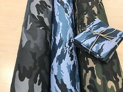 £7.99 • Buy COTTON DRILL, EXTRA WDE TWILL  EXTRA THICK Camouflage DPM Miltary Fabric 150cms
