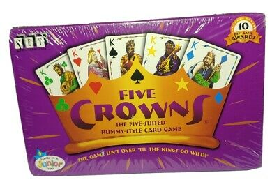 AU6.37 • Buy Five Crowns 5 Suited Rummy Style Card Game Set Enterprises Family Playing A-3