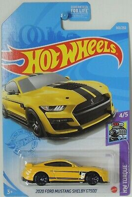 $4.95 • Buy 2021 Hot Wheels 2020 Ford Mustang Shelby GT500 Yellow 143/250 HW Torque #4 GRY02