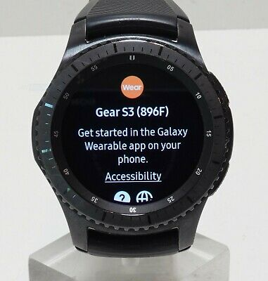 AU129.24 • Buy Samsung Gear S3 Frontier Watch Stainless Steel (4G LTE) SM-R765A Black Case/Band