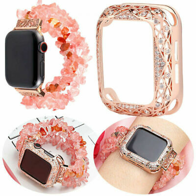 $ CDN27.56 • Buy Luxury Bling Diamond Band Fr Apple Watch Series 6 5 4 3 2 Rhinestone Wrist Strap