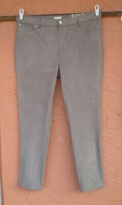 $ CDN15.04 • Buy Chico's The Ultimate Fit Faux Suede Slim Pants Taos Taupe Size 3 XL NWT