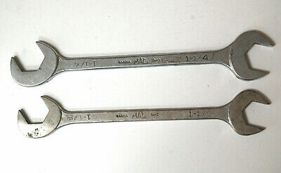 $60 • Buy Two Mac Four Way Angle Head Open End Wrenches 1-1/8  & 1-1/4  Old Style