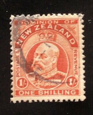 AU5.95 • Buy NZ 1909 KEVII 1/- Orange - Used