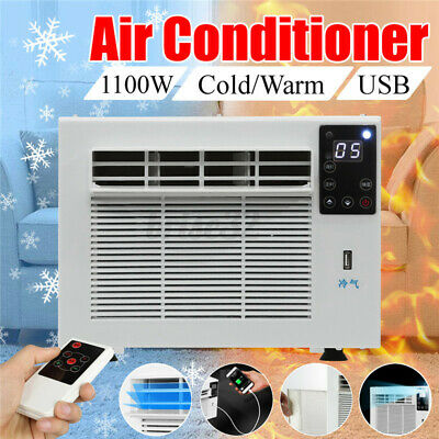AU221.39 • Buy 1100W Window Refrigerated Air Conditioner Cooler/Heater Heating Winter Portable