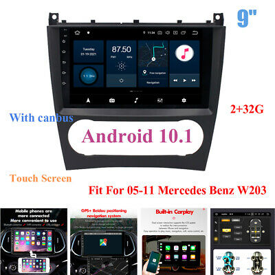 $308.99 • Buy 9  2+32G Android 10.1 DSP MP5 Player FM GPS Fit For 05-11 Mercedes Benz W203