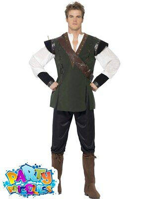 £22.99 • Buy Mens Robin Hood Nottingham Sheriff Medieval Costume Book Day Fancy Dress Outfit