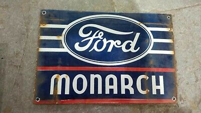 $ CDN1.24 • Buy Porcelain Ford Monarch Enamel Sign Size 12  X 8  Inches
