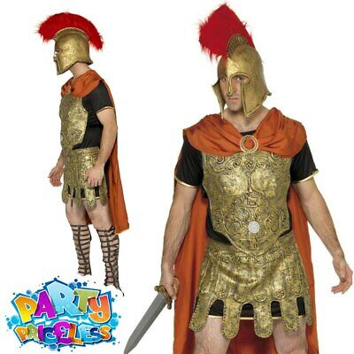 £35.99 • Buy Adult Gladiator Roman Soldier Spartan Warrior Costume Mens Fancy Dress Outfit