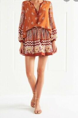 AU50 • Buy Tigerlily Heloise Skirt Rust Size 14 RRP $119