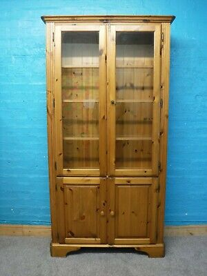 £165 • Buy DUCAL VICTORIA SOLID WOOD DISPLAY CABINET / BOOKCASE  -H189 W100cm -SEE SHOP
