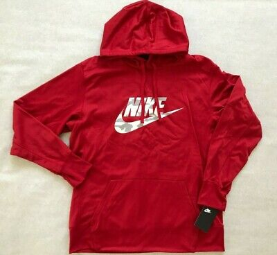 $ CDN43.85 • Buy Nike Therma Men's Pullover Camo Training Hoodie Gym Red/Gray 818723-687 LARGE