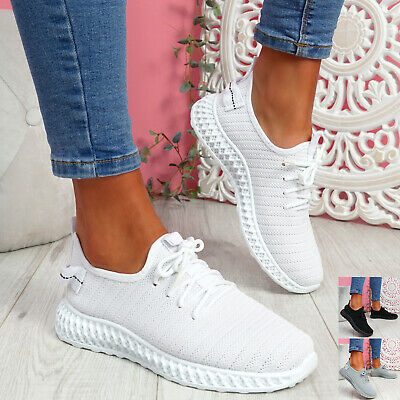 $ CDN22.15 • Buy Womens Ladies Knit Trainers Running Sneakers Women Sport Shoes Size Uk