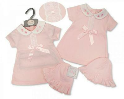 £10.99 • Buy Baby Girls Clothes Spanish Style Bow Dress And Hat Set Newborn 0-3 3-6 Months