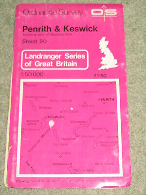OS Ordnance Survey Landranger Map Sheet 90 Penrith & Keswick • 1.69£