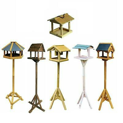 £14.95 • Buy Home Garden Wooden Bird Feeding Station Natural Table Easy To Assemble